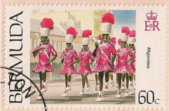 Bermuda Day Parade Stamp - Majorettes